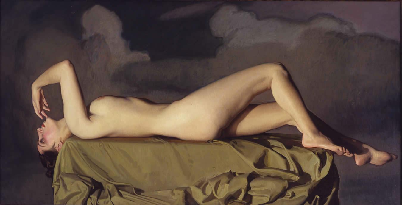 Cuadro Moderno desnudo en grises - cuadrosblangares